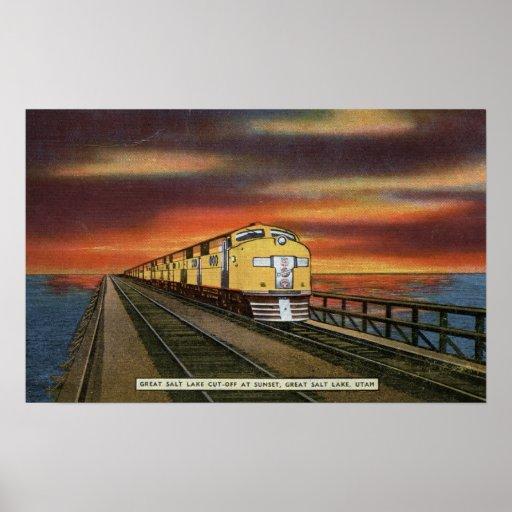 Great Salt Lake Railroad Cutoff Posters