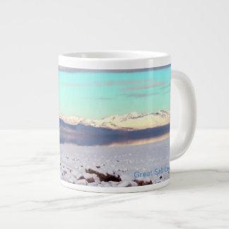 Great Salt Lake, Utah Winter Landscape Jumbo Mug