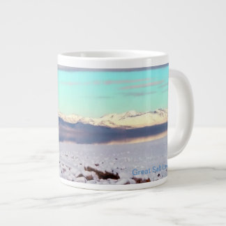 Great Salt Lake, Utah Winter Landscape Large Coffee Mug