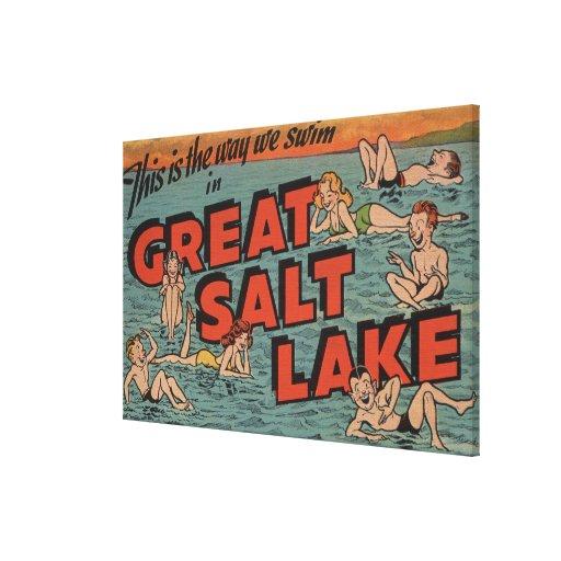 Great Salt Lake, UtahThe Way We SwimUtah Stretched Canvas Prints