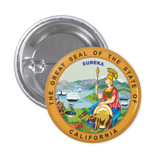 Great seal of the state of California 3 Cm Round Badge