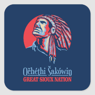 Great Sioux Nation Square Sticker