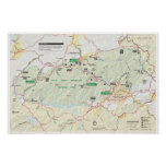 Great Smoky Mountains map poster
