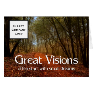 Great Visions | Business Greetings | Woods Path Card