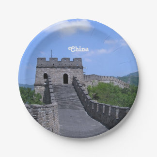 Great Wall in China Paper Plate