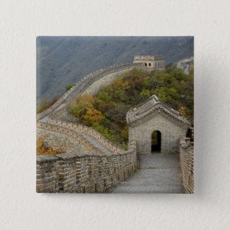 Great Wall of China at Mutianyu 15 Cm Square Badge