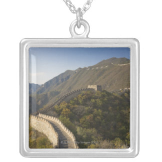 Great Wall of China at Mutianyu 2 Silver Plated Necklace