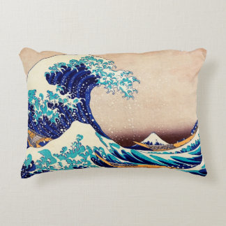 Great Wave Off Kanagawa Japanese Vintage Fine Art Decorative Cushion