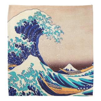 Great Wave Off Kanagawa Japanese Vintage Fine Art Kerchiefs