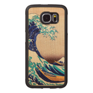 Great Wave Off Kanagawa Vintage Japanese Print Art Wood Phone Case