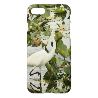 Great White Egret iPhone 7 Glossy Case
