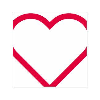 """""""GREAT WORK!"""" + Heart Shape Teacher Rubber Stamp"""