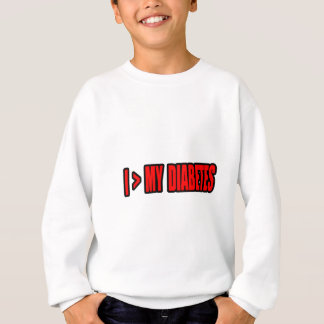 Greater Than My Diabetes Sweatshirt