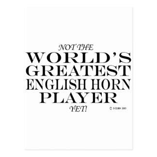 Greatest English Horn Player Yet Postcard