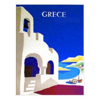 grece vintage postcard