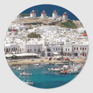 Greece%20Mykonos-.[kan.k]JPG Classic Round Sticker