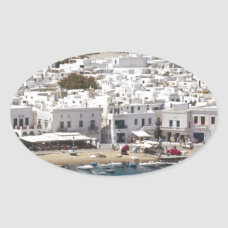 Greece%20Mykonos-.[kan.k]JPG Oval Sticker