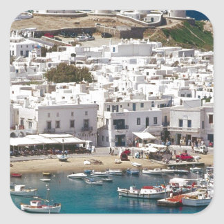 Greece%20Mykonos-.[kan.k]JPG Square Sticker