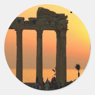 Greece Athens (new) (St.K) Classic Round Sticker
