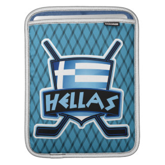 Greece Flag Ice Hockey Tablet Cover
