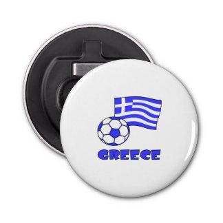 Greece Flag Soccer Ball Bottle Opener