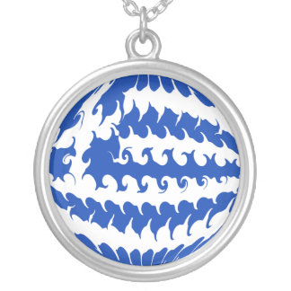 Greece Gnarly Flag Necklace