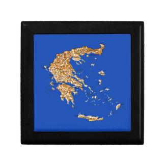 Greece Map Gift Box