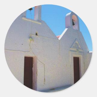 Greece - Mykonos Classic Round Sticker