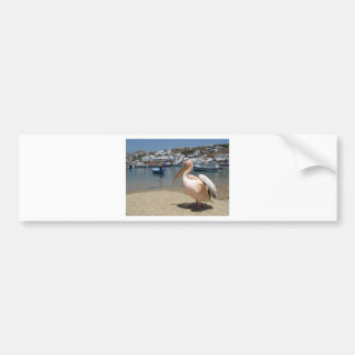 Greece Mykonos petros the pelican (St.K) Bumper Sticker