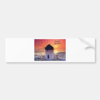 Greece Mykonos Sunset (St.K) Bumper Sticker