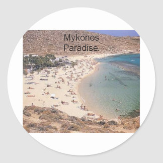 Greece Mykonos Super Paradise (St.K) Classic Round Sticker