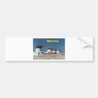 Greece Mykonos Windmills (Aggel) Bumper Sticker