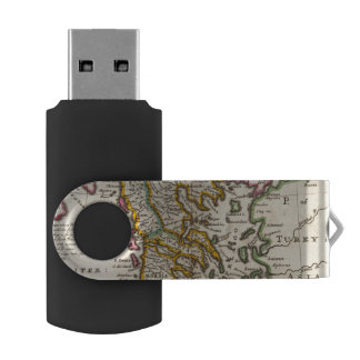 Greece or the south part of Turkey in Europe Swivel USB 2.0 Flash Drive