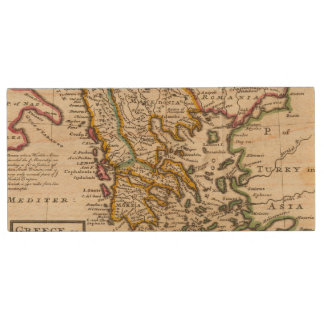 Greece or the south part of Turkey in Europe Wood USB 2.0 Flash Drive