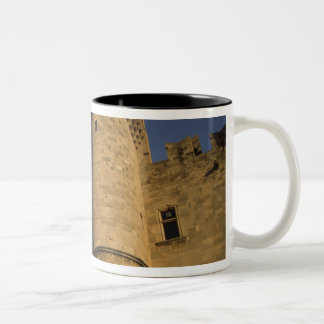 Greece, Rhodes Town. View of the Palace of the Two-Tone Coffee Mug