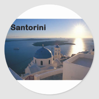 Greece Santorini Sunset (St.K) Classic Round Sticker