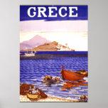 Greece Vintage Travel Poster
