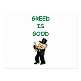 greed is good postcard