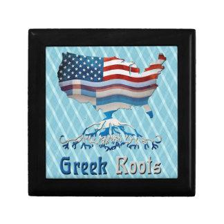 Greek American Flags Giftbox Gift Box