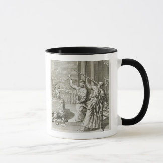Greek Astronomer Studying the Stars, illustration Mug