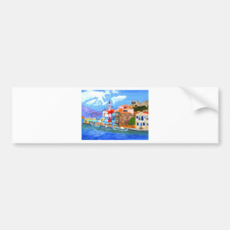 Greek coast bumper sticker