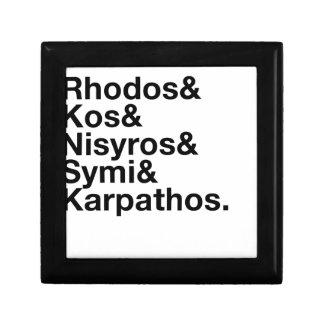 Greek Dodecanese Islands Ampersand Gift Box