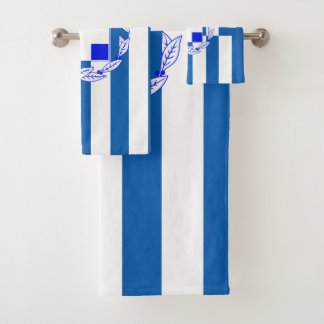 Greek flag bath towel set