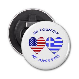 Greek Heart Flag Country Ancestry Bottle Opener