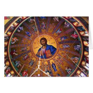 Greek Orthodox Ceiling - Beauty of Christmas Greeting Card