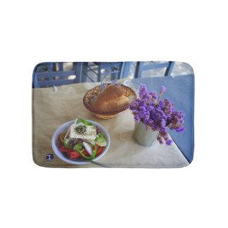Greek salad bath mat