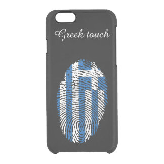 Greek touch fingerprint flag clear iPhone 6/6S case
