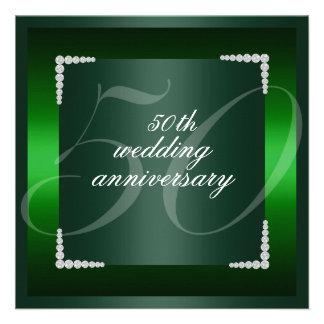 Green 50th wedding anniversary Invitation