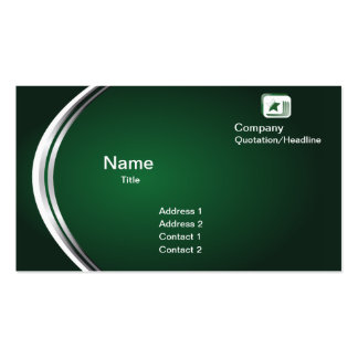 Green Abstract Business Card Template