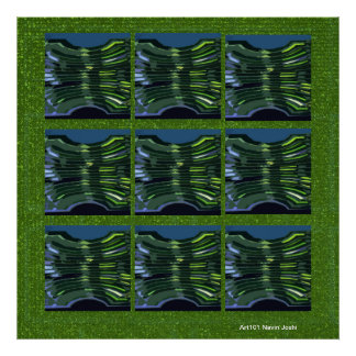 Green Abstract - Interior Exterior Decorations Posters